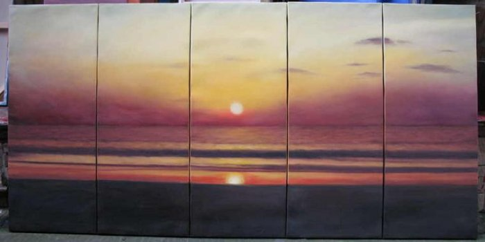 Modern oil painting on Canvas seascape painting set543