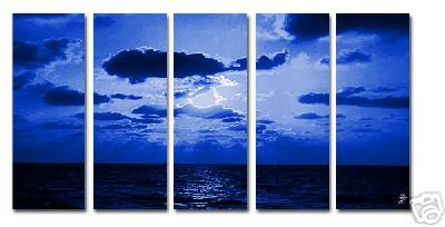 Modern oil painting on Canvas sunset glow painting set554