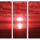 Modern oil painting on Canvas sunset glow painting set575