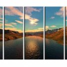 Modern oil painting on Canvas sunset glow painting set588