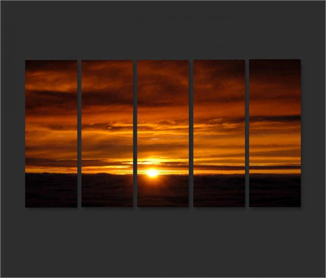 Modern oil painting on Canvas sunset glow painting set605