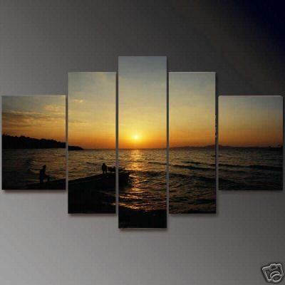 Modern oil painting on Canvas seascape painting set607