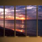 Modern oil painting on Canvas sunset glow painting set612