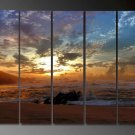 Modern oil painting on Canvas sunset glow painting set616