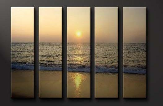 Modern oil painting on Canvas sunset glow painting set617