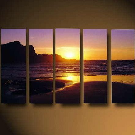 Modern oil painting on Canvas sunset glow painting set619