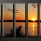 Modern Contemporary oil painting on Canvas sunset glow painting set 642