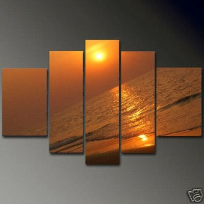 Modern Contemporary oil painting on Canvas sunset glow painting set 650