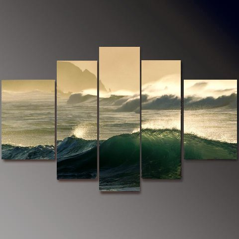 Modern Contemporary oil painting on Canvas seascape painting set 653