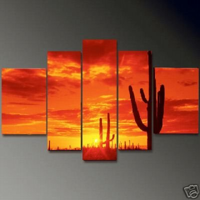 Modern Contemporary oil painting on Canvas sunset glow painting set 656
