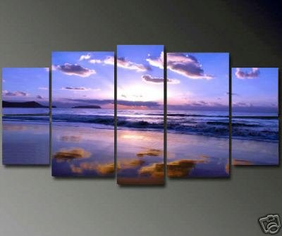 Modern Contemporary oil paintings on Canvas sunset glow painting set661