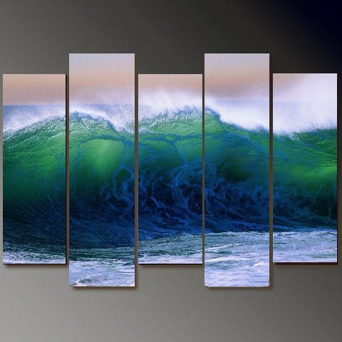 Modern Contemporary oil paintings on Canvas seascape painting set700