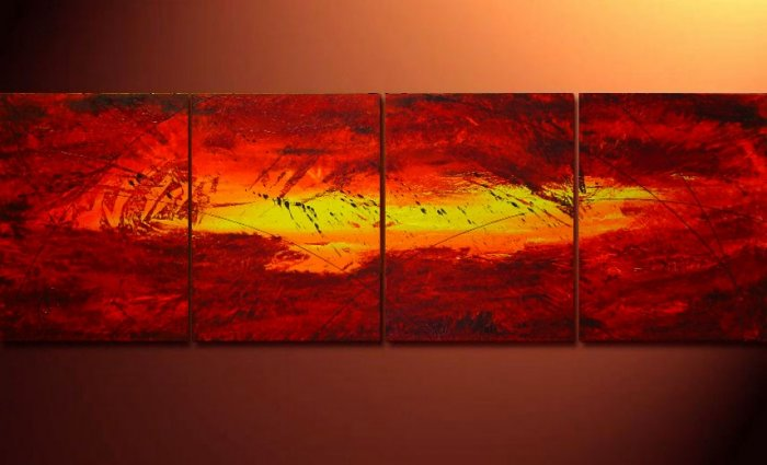 Modern Contemporary oil paintings on Canvas abstract painting set 116