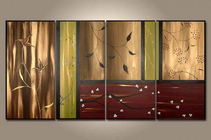 Modern Contemporary oil paintings on Canvas abstract painting set 256