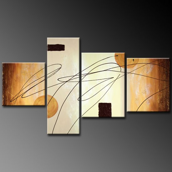 Modern Contemporary oil paintings on Canvas abstract painting set 377