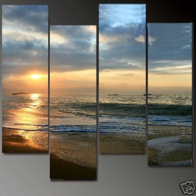 Modern Contemporary oil paintings on Canvas seascape painting set 609