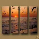 Modern Contemporary oil paintings on Canvas sunset glow painting set 615