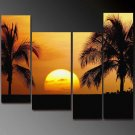 Modern Contemporary oil paintings on Canvas setting sun painting set 666