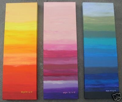 Modern Contemporary oil paintings on Canvas abstract painting set 092