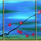 Modern Contemporary oil paintings on Canvas flower painting set 120