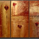 Modern Contemporary oil paintings on Canvas abstract painting set 123