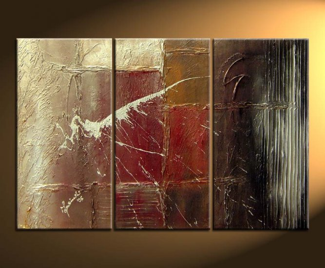 Modern Contemporary oil paintings on Canvas abstract painting set 129