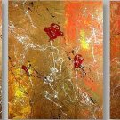 Modern Contemporary oil paintings on Canvas flower painting set 142