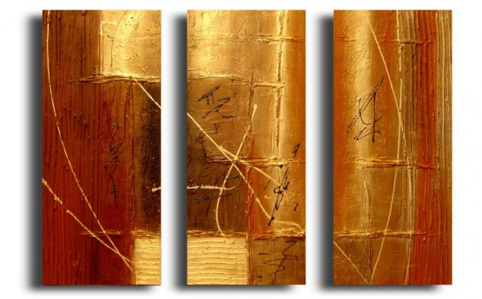 Modern Contemporary oil paintings on Canvas abstract painting set 145