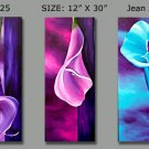 Modern Contemporary oil paintings on Canvas flower painting set 151