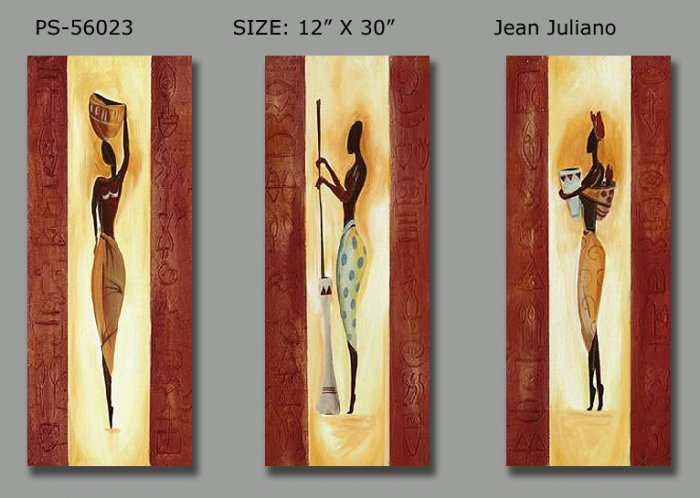Modern Contemporary oil paintings on Canvas portrait painting set 153