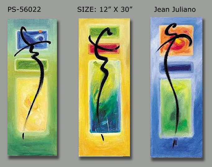 Modern Contemporary oil paintings on Canvas abstract painting set 154