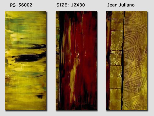 Modern Contemporary oil paintings on Canvas abstract painting set 174