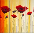 Modern Contemporary oil paintings on Canvas flower painting set 176