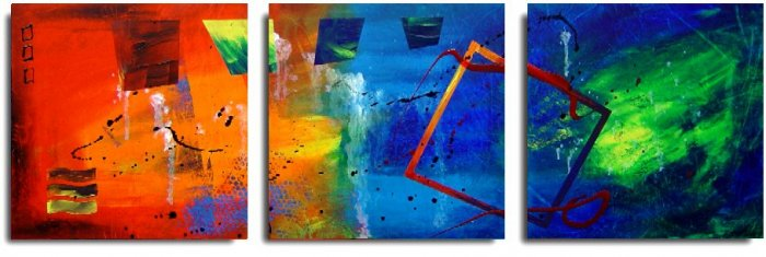 Modern Contemporary oil paintings on Canvas abstract painting set 184