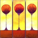 Modern Contemporary oil paintings on Canvas flower painting set 190
