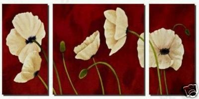 Modern Contemporary oil paintings on Canvas flower painting set 228
