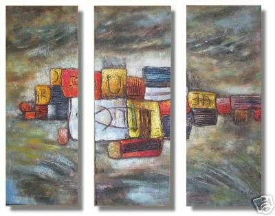 Modern Contemporary oil paintings on Canvas abstract painting set 236
