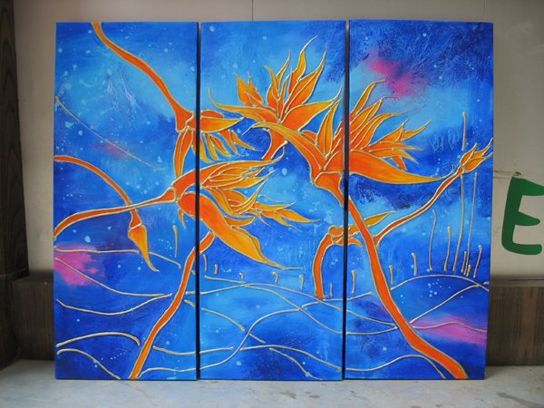 Modern Contemporary oil paintings on Canvas abstract painting set 253