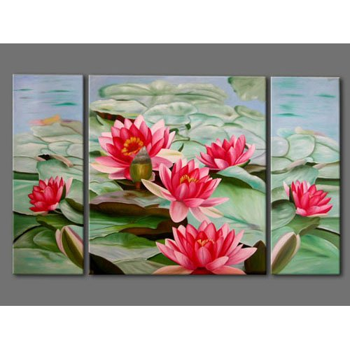 Modern Contemporary oil paintings on Canvas flower painting set 259