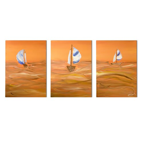Modern Contemporary oil paintings on Canvas seascape painting set 264