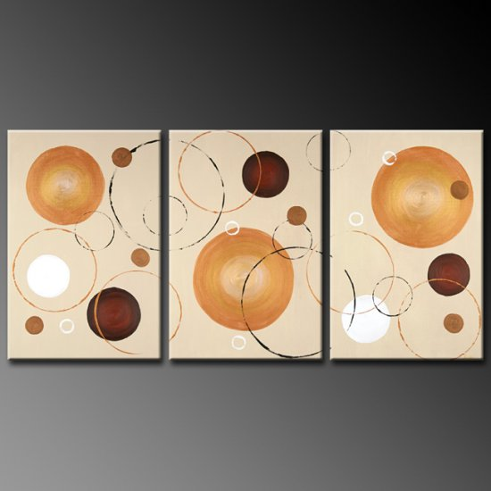 Modern Contemporary oil paintings on Canvas abstract painting set 267