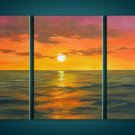 Modern Contemporary oil paintings on Canvas sunset glow painting set 274