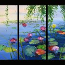 Modern Contemporary oil paintings on Canvas flower painting set 276