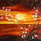 Modern Contemporary oil paintings on Canvas flower painting set 281