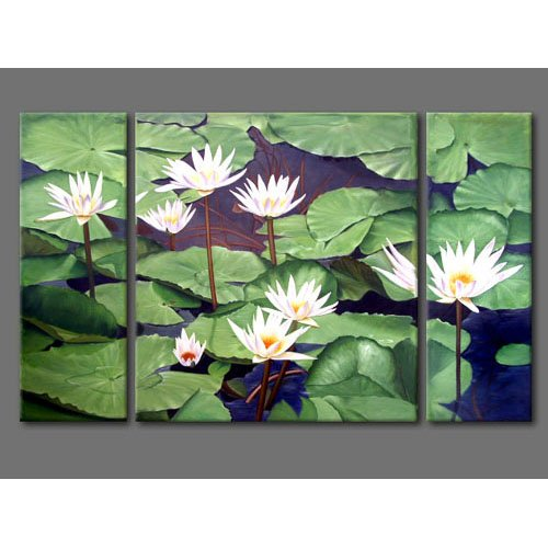 Modern Contemporary oil paintings on Canvas flower painting set 302