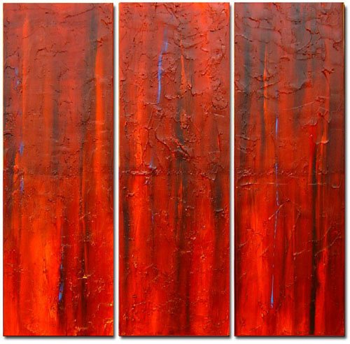 Modern Contemporary oil paintings on Canvas abstract painting set 310