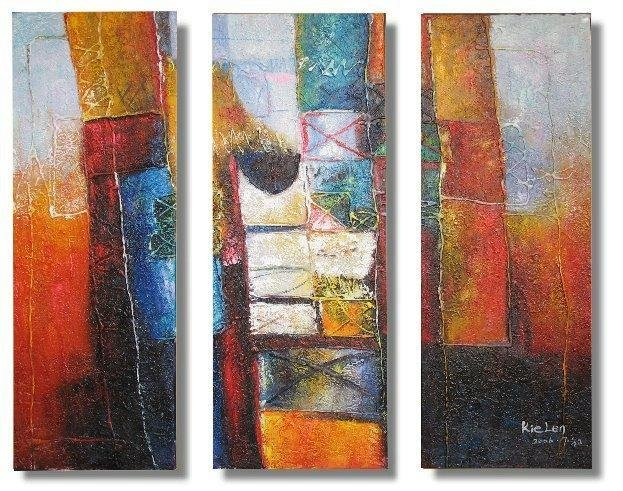 Modern Contemporary oil paintings on Canvas abstract painting set 319