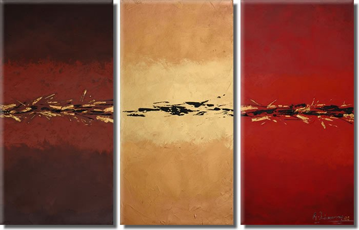 Modern Contemporary oil paintings on Canvas abstract painting set 348