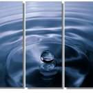 Modern Contemporary oil paintings on Canvas blue water drop painting set 357