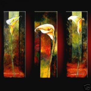 Modern Contemporary oil paintings on Canvas abstract painting set 358